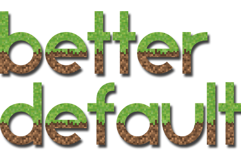 Download BetterDefault Resource Packs